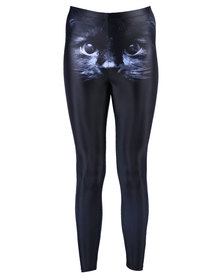 Iron Fist Have You Seen My Black Cat Leggings Black