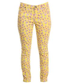 Iron Fist Scary Prairie Denim Pants Yellow