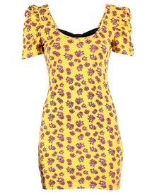 Iron Fist Scary Prairie Bow Back Dress Yellow