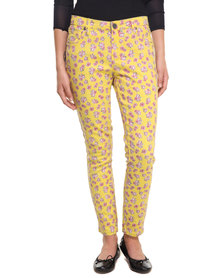 Iron Fist Scary Prairie Denim Pants Yellow