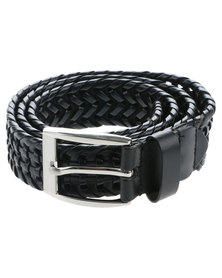 JCrew Plait Belt Black