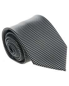 JCrew Small Squares Tie Black