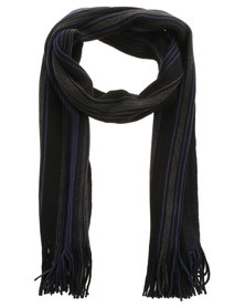 JCrew Stripe Scarf Navy