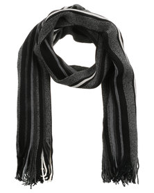 JCrew Stripe Scarf Grey