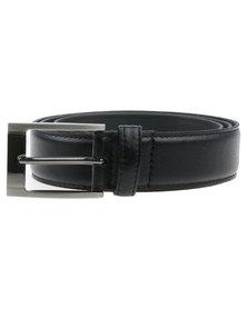 JCrew Grainy PU Belt Black