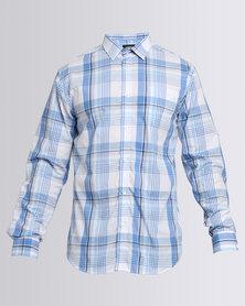 JCrew Over Check Long Sleeve Shirt Blue