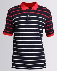 JCrew Stripe Golf Shirt Multi