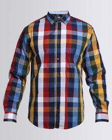 JCrew Long Sleeve Check Shirt  Red And Yellow