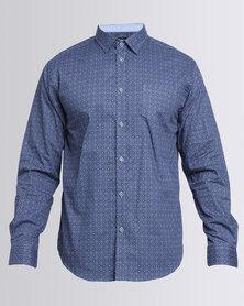 JCrew Printed Long Sleeve Shirt Blue