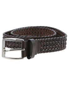 Queenspark Plait Belt Brown