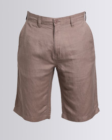JCrew Linen Cotton Shorts Taupe