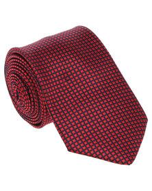 JCrew Mini Grid Tie Red