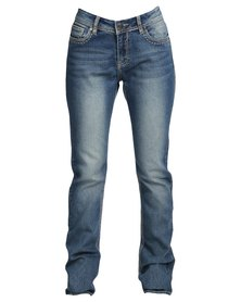 Jeep Stretch Denim Straight Leg Jeans