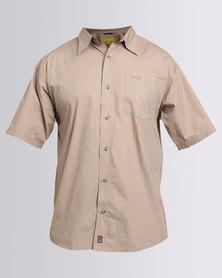 Jeep Short Sleeve Plain Shirt