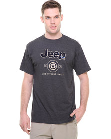 Jeep S/Sleeve Print Tee Grey