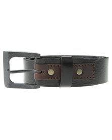 Jeep Jeans Leather  Belt Black