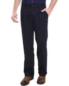 Jeep 2 Pleat Chino Pant Navy