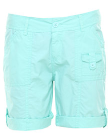 Jeep Cracker Poplin Roll Up Leg Short Blue