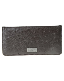 Jeep Leather Wallet Brown