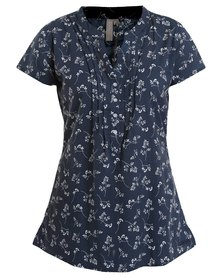 Jeep Woven Blouse Navy