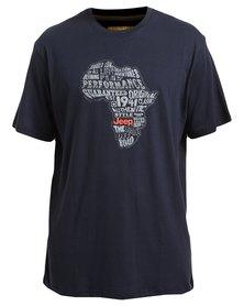 Jeep Short Sleeve Print T-Shirt Navy