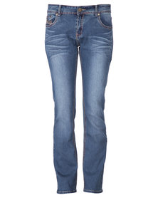 Jeep Straight Leg Denim Jeans Blue