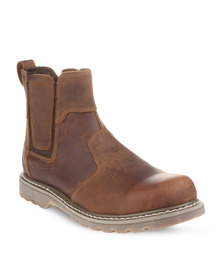 Jeep Leather Trail Boots Brown