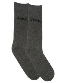 Jeep Plain Socks Charcoal