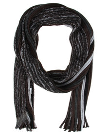 Jeep Stripe Scarf Grey