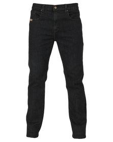 Jeep 5 Pocket Stretch Jeans Black