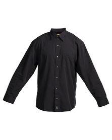 Jeep Long Sleeve Stripe Shirt Black
