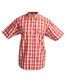 Jeep Short Sleeve Cotton Technical Shirt Red
