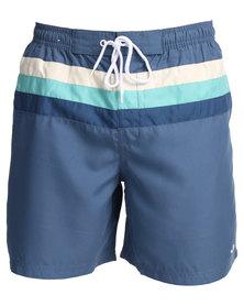 Jeep 18cm In-Leg Swim Shorts Blue