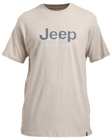 Jeep Short Sleeve Applique/Emb T-Shirt Stone
