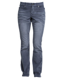 Jeep Stretch Corduroy Pant Blue