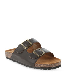 Jeep Akuchi Leather Sandals Brown
