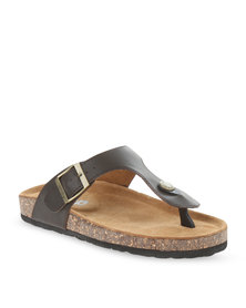 Jeep Ayana Leather Sandals Brown