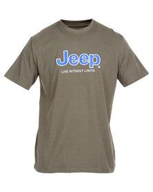Jeep Short Sleeve Applique Emblem Tee Green