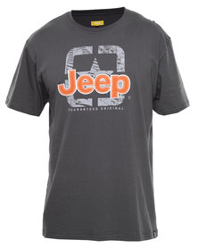 Jeep S/Sleeve Print Tee Charcoal