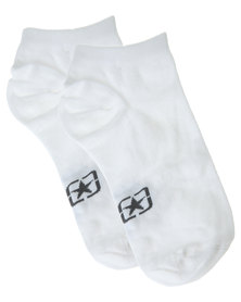 Jeep Basic No-Show Sock White