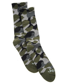 Jeep Camo Bush Socks Green