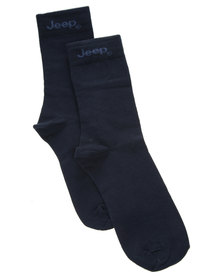 Jeep Formal Socks Navy