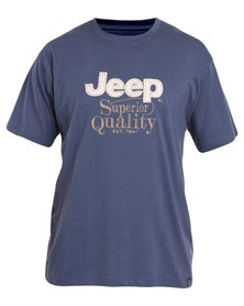 Jeep One Up Tee  Blue
