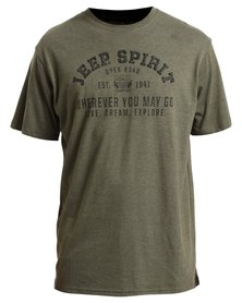 Jeep Spirit Print T-Shirt Olive