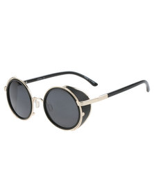 Jeepers Peepers Hunter Block Out Round Sunglasses Black