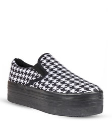 Jeffrey Campbell Houndstooth Loafer Slip-On Sneakers