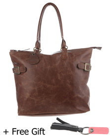 Jinger Jack Florian Leather Bag Brown