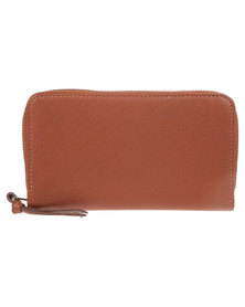 Jinger Jack Sam Leather Purse Tan