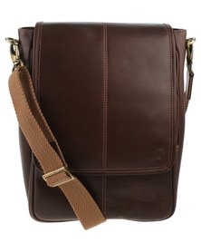 John Buck Scott Mens Bag Dark Brown