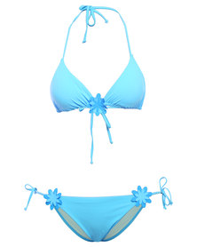 Jolidon Summer Kiss Flower Triangle Bikini Blue